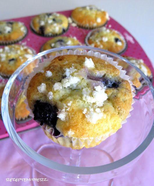 Rezepte mit Herz ♥: Blueberry Muffins a la Starbucks