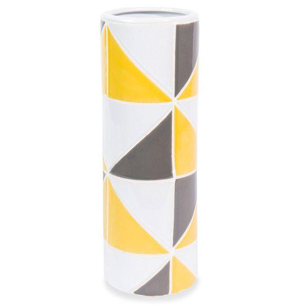 Vase en grès jaune/gris H 30 cm ...