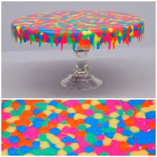 Melted Pony Bead Cake Stand from Ben Franklin Crafts