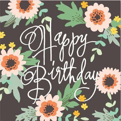 Birthday on black | Cards from Postmark Online
