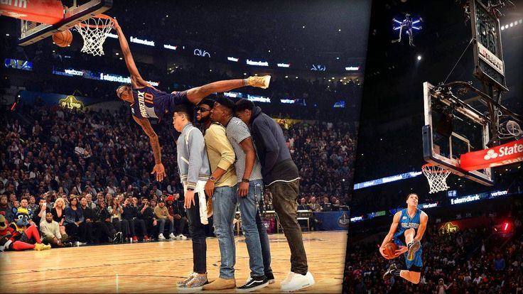 Dunk mithilfe einer Drohne: ✔︎ Dunk über ein DJ-Pult: ✔︎ Dunk über eine Vierer-Menschen-Kette: : ✔︎  Die kreativsten Sportler der Welt gibt's eindeutig beim NBA-Slam-Dunk-Contest