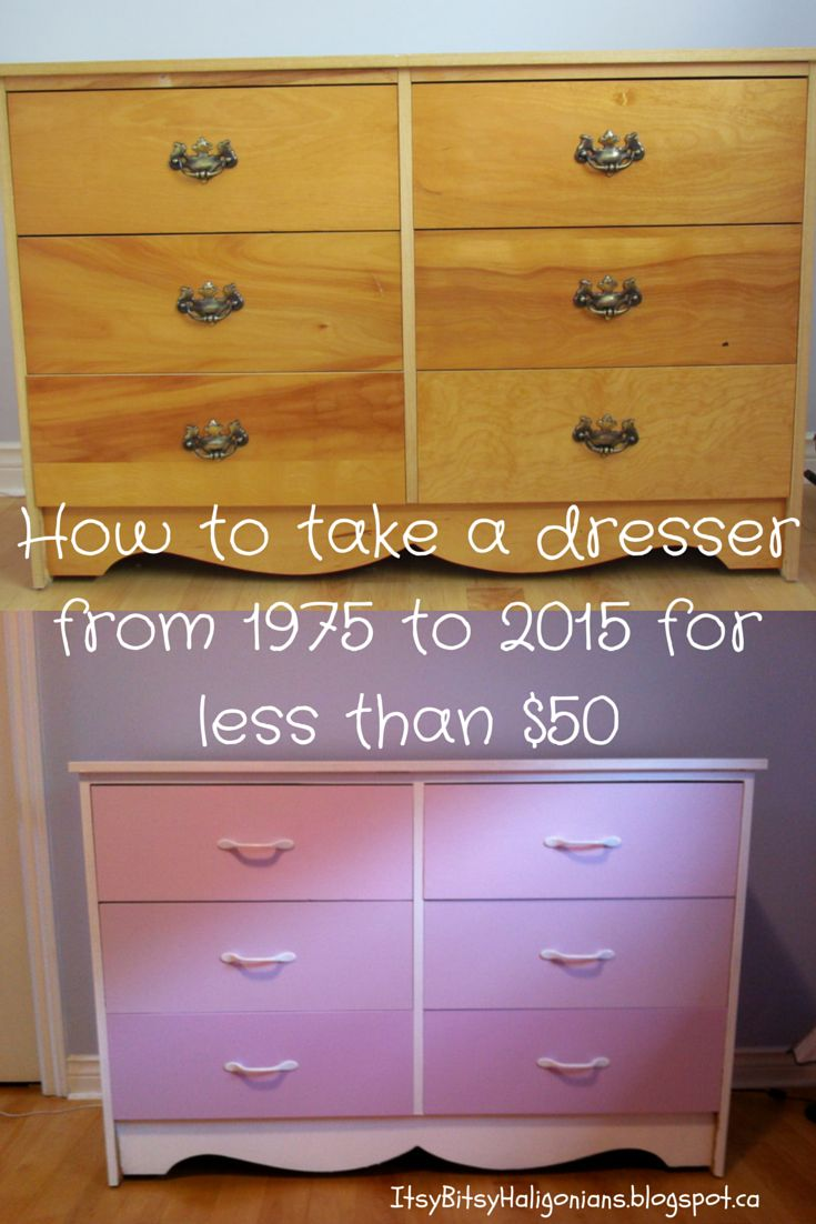How to Update a Dresser from 1975 to 2015 —