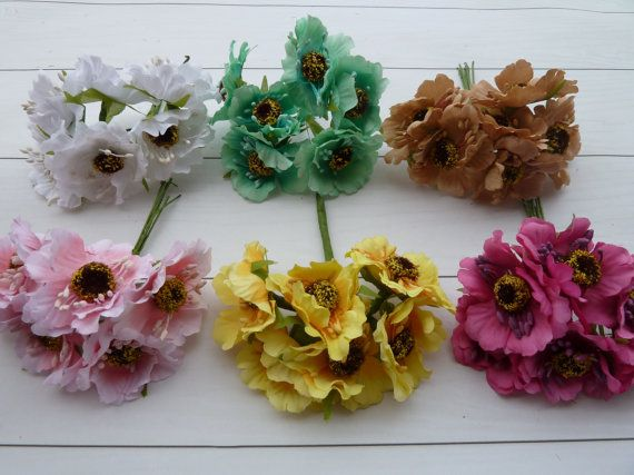 1bunch6pcs flowers  for holiday decorhair от VitasjaCrochet