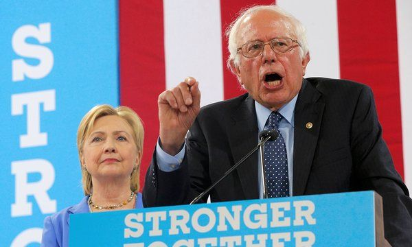 Bernie Sanders officially endorses Hillary Clinton for president | US news | The Guardian