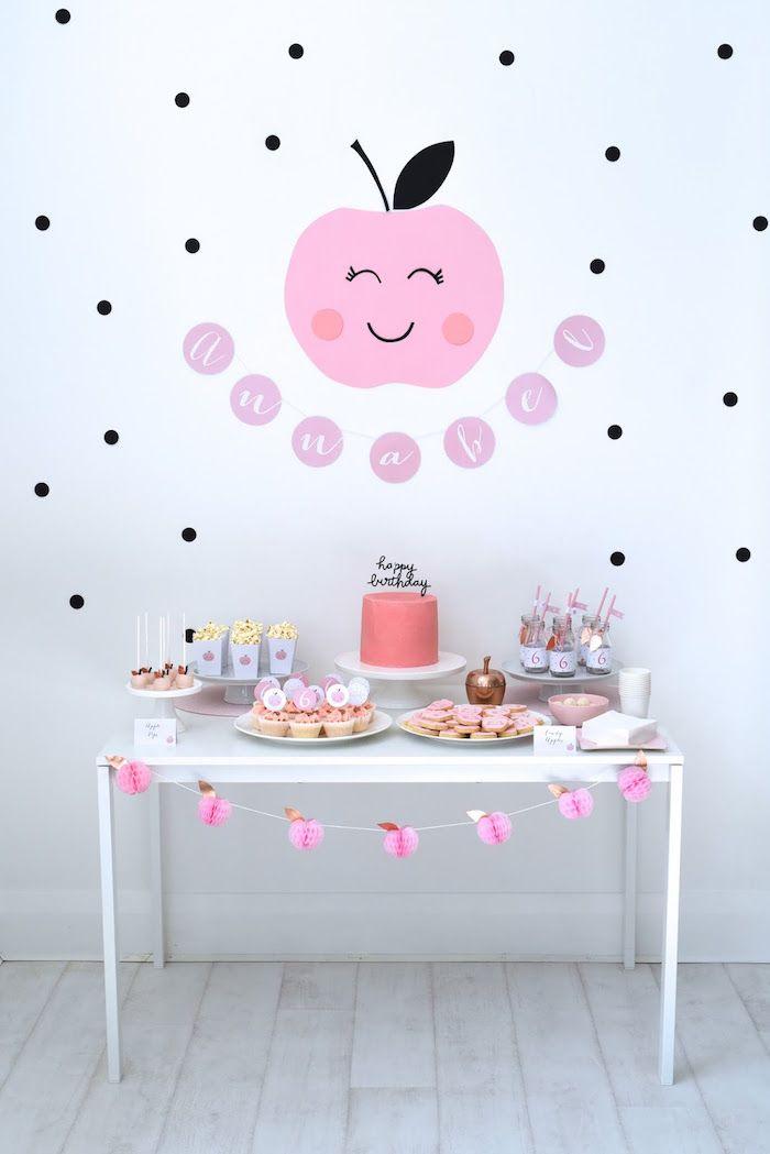 Dessert Table from an Apple of my Eye Themed Birthday Party via Kara's Party Ideas  KarasPartyIdeas.com (24)