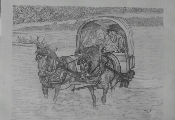 """Clearwater Crossing""  Pencil art by Vicki Lind on Facebook"