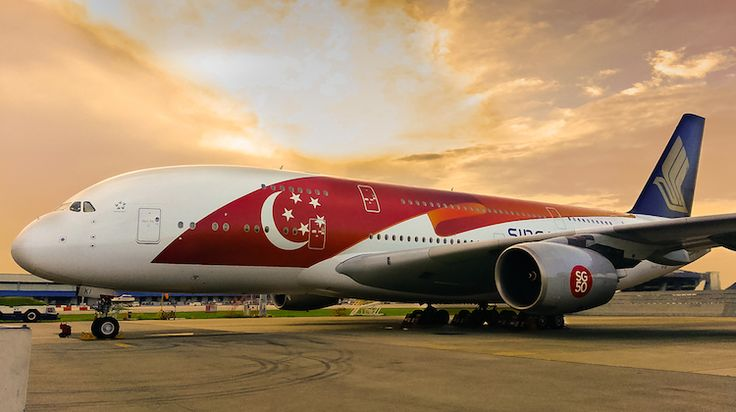 Singapore Airlines Airbus A380 in special SG50 livery. (SIA)
