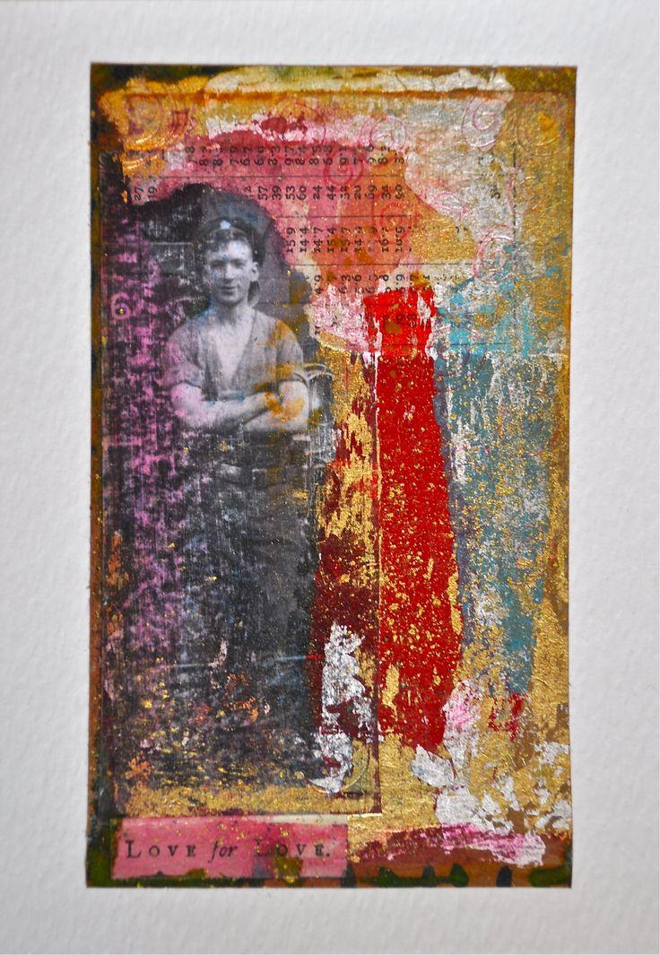Cut and paste original collage