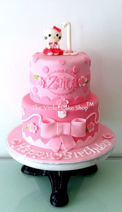 PERFECTLY PINK Hello Kitty - by thevioletcakeshop @ CakesDecor.com - cake decorating website