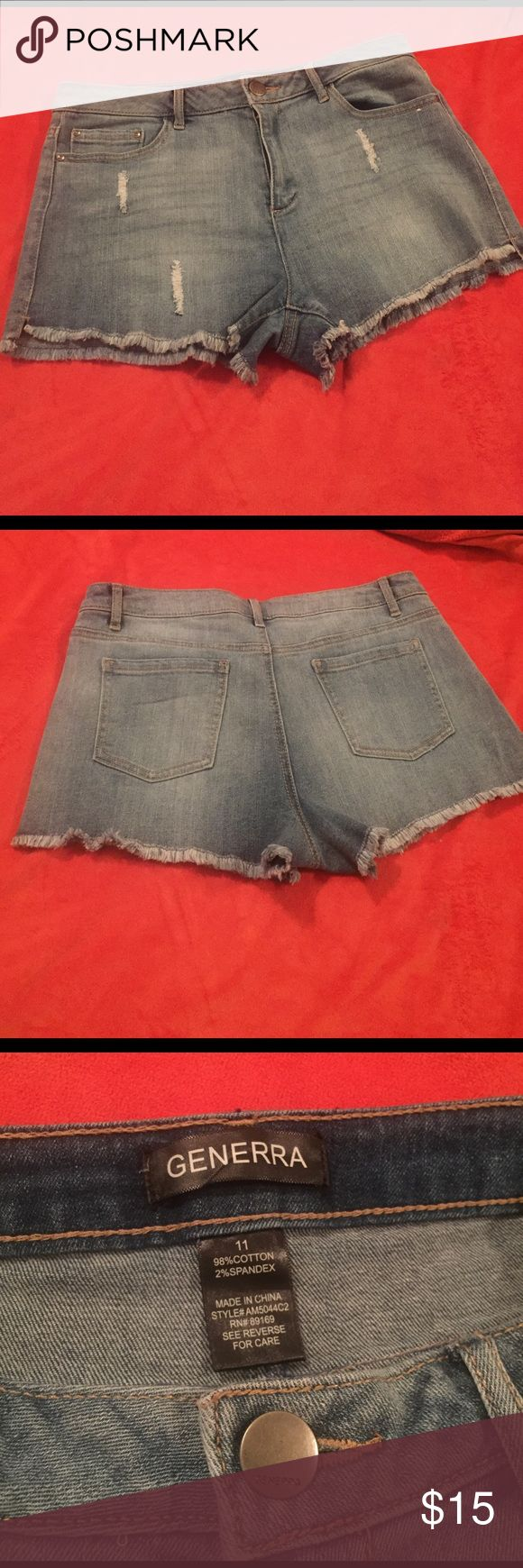 Generra Cutoff jean Shorts NWOT! Never worn! Everyone needs a basic pair of jean shorts that can be paired with anything! Summer and spring break must have! Generra Shorts Jean Shorts