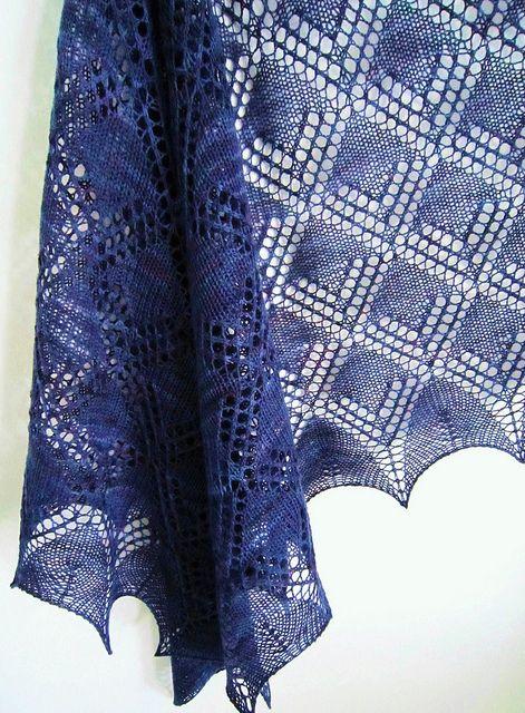 Knit Lace Shawl Ravelry FREE pattern Matilda Shawl by Heikku