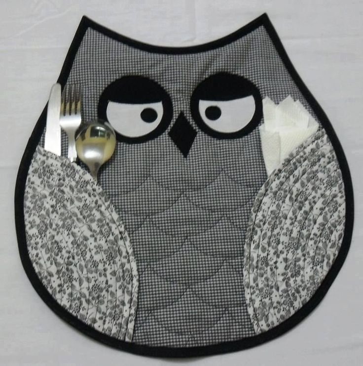 I HAVE to make these owl placemats! Love this!