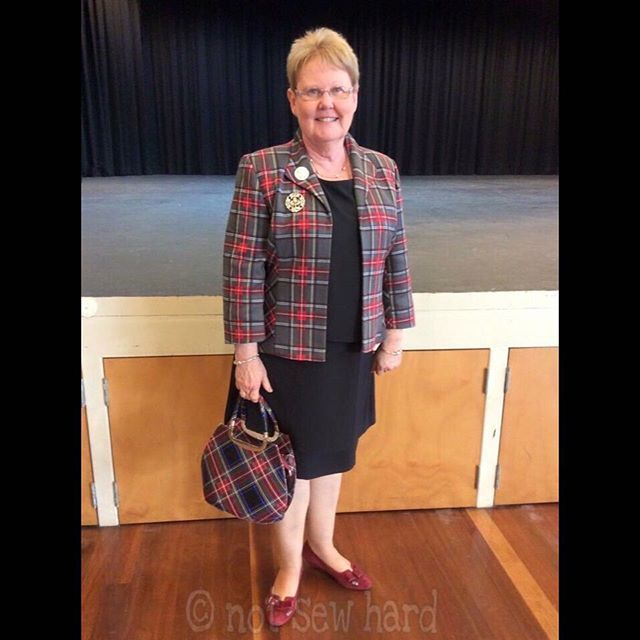 A jacket made for one of our North Queensland Adjudicators. #standrewsdayhighlandcompetition2016 #highlanddanceadjudicator #nshhandmadehighlanddancewear #notsewhard