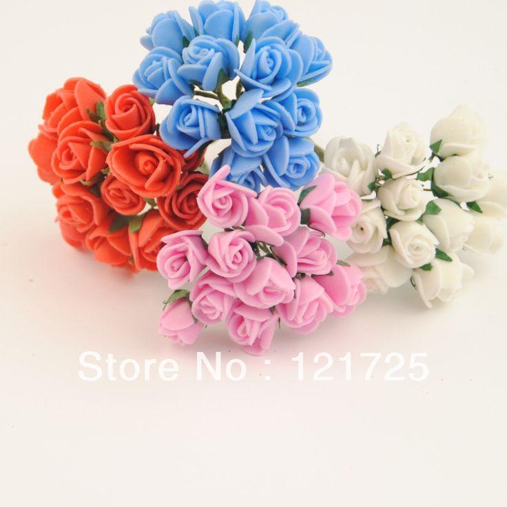 Бесплатная доставка 4 цветов маленький пэ розы цветы ручной работы мини искусственный цветок DIY свадебный букет скрапбукинг декор