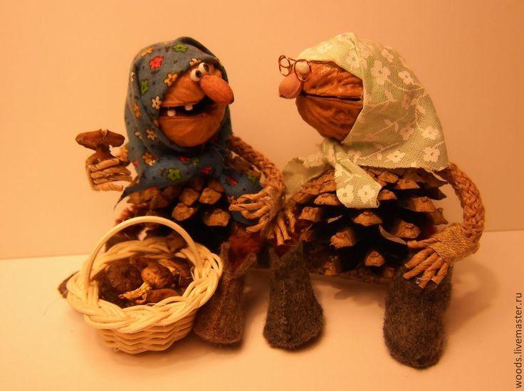 Бабушки) Грецкий орех/nuts, шишки/from cones