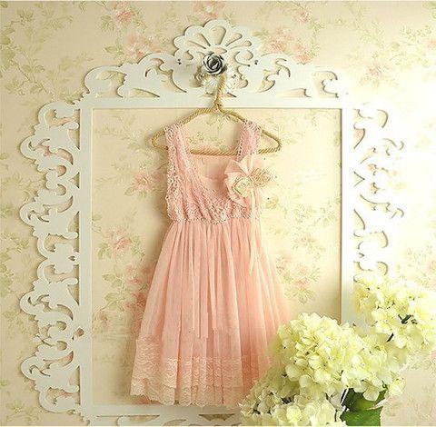 Vintaged Inspired Flower Girl Pink Dress- Amelia Dress - Loved by Chloe