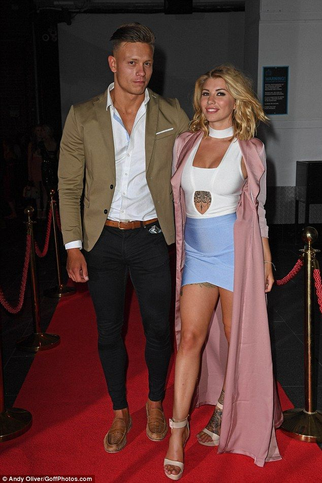 Lovebirds: Love Island couple Olivia Buckland and Alex Bowen put on a very amorous display...