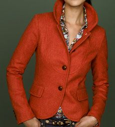 J.Crew Bella Jacket. Absolutely love the fall colors. So happy J.Crew is