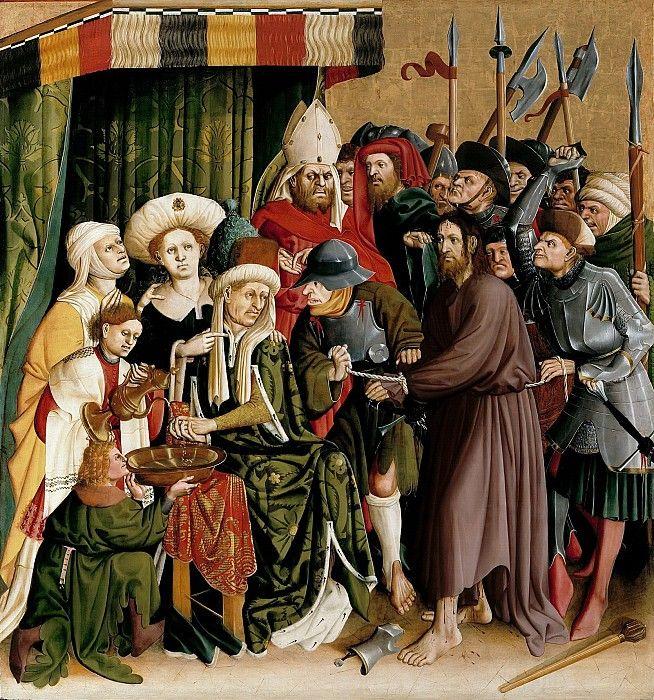 Мульчер, Ханс (c.1400-1467) - Вурцахский алтарь - Пилат, умывающий руки.