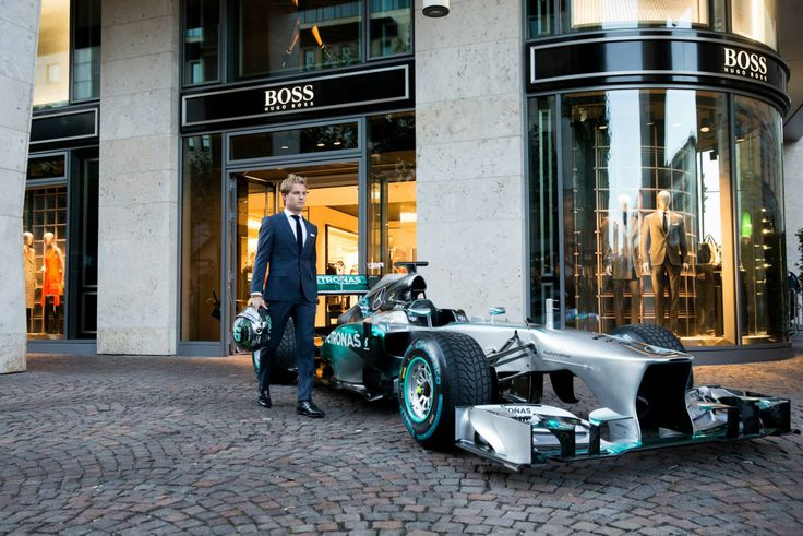 nico rosberg with mercedes amg petronas at hugo boss special event frankfurt formula 1. Black Bedroom Furniture Sets. Home Design Ideas