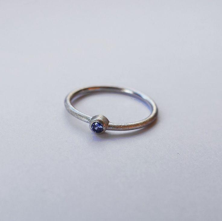 Delicate Tanzanite Ring. #tanzanitejewellery #ringoftheday #bluestone #handmade #birthdaypresent #onlineshopping #designer