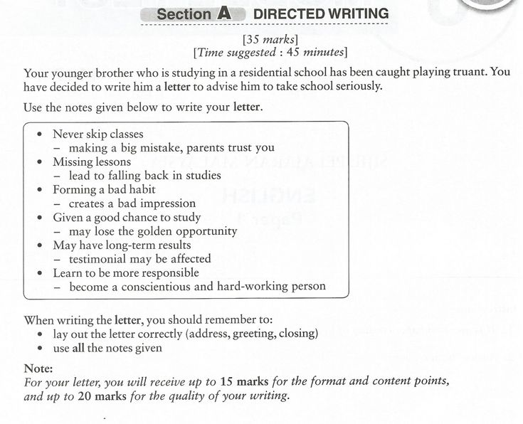 Ponponproduction Spm Directed Writing Example  Informal Letter