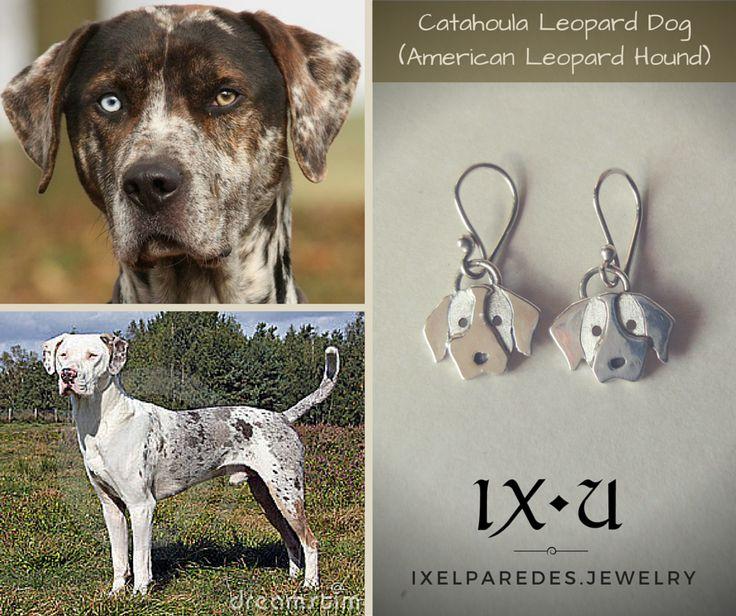 Catahoula Leopard Dog (Perro-Leopardo de Catahoula) Aretes en Plata .950 Precio: $150 MXN