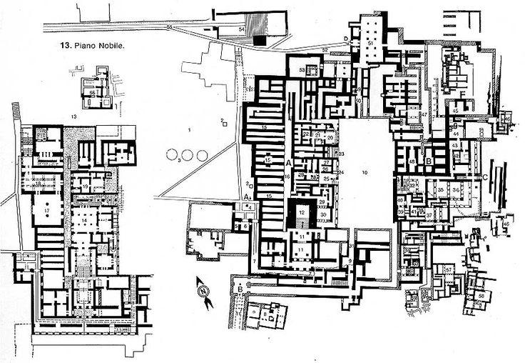 Plan pałacu w Knososs