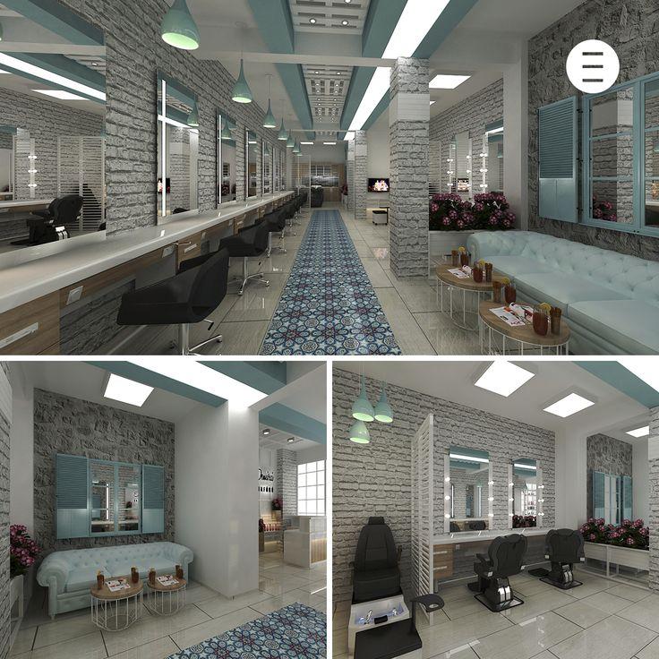 Bayan kuaför salonu tasarımı - Edirne - www.alpeda.com