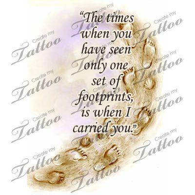 footprints in the sand tattoos | Footprints In The Sand Tat4 Createmytattoocom