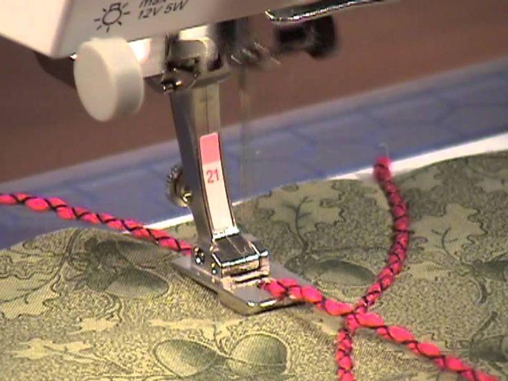 22) Pieds-de-biche BERNINA - Pied pour la couture de rubans n°21 #coursdecouture #machineacoudre