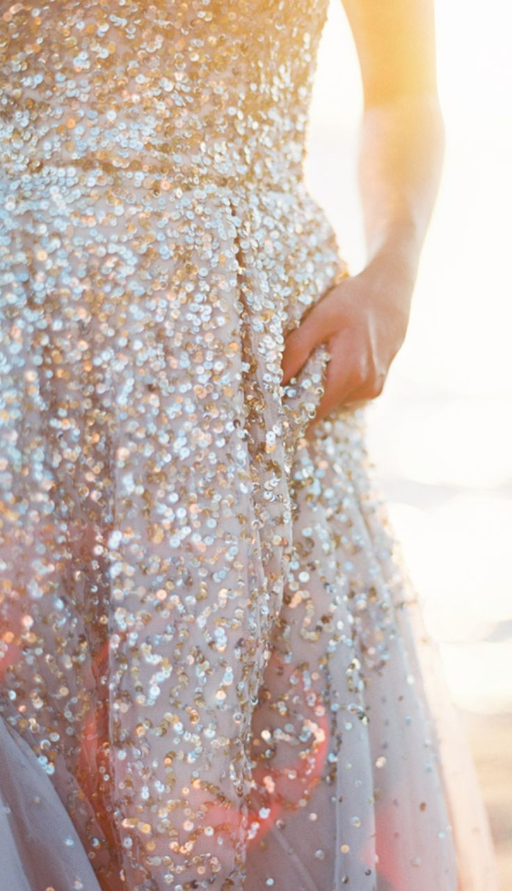 Bring the sparkle to your wedding or other special occasion with a sequin-embellished dress.