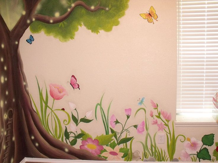 25 best ideas about kids murals on pinterest disney for Anthropologie enchanted forest mural