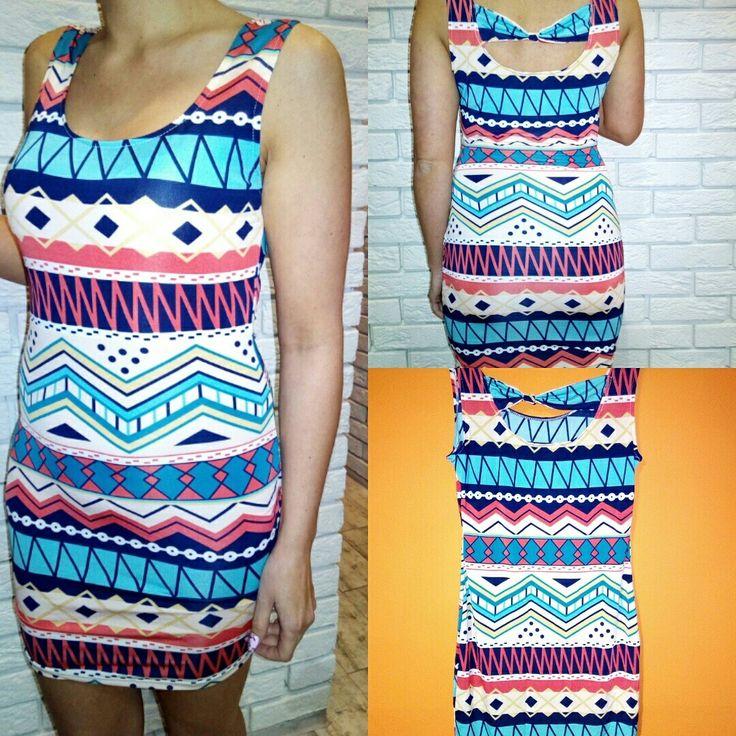 Sukienka wzór Aztecki