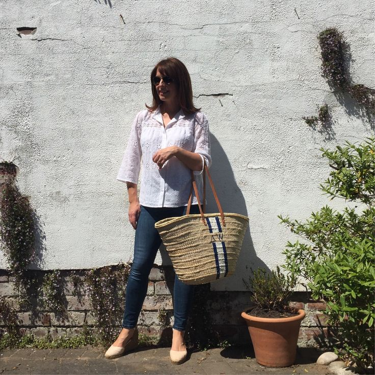 Alice Temperley Somerset Blouse, Rae Feather Basket and Castaner Wedges