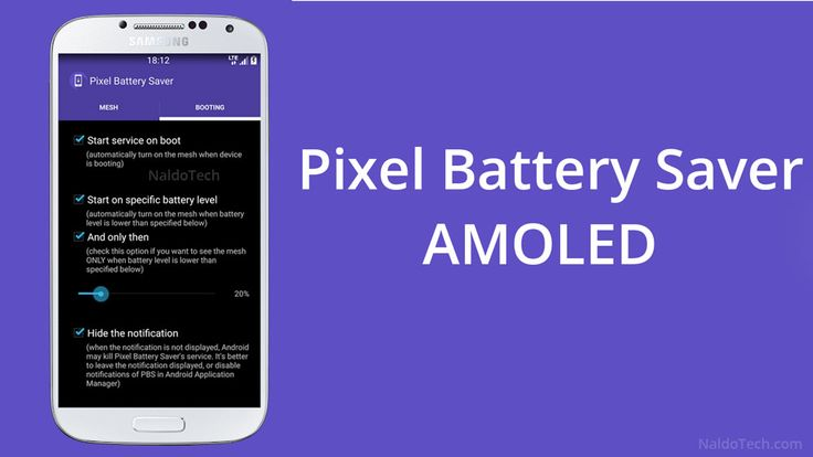 Pixel Battery Saver app for AMOLEDs displays - http://www.doi-toshin.com/pixel-battery-saver-app-amoleds-displays/