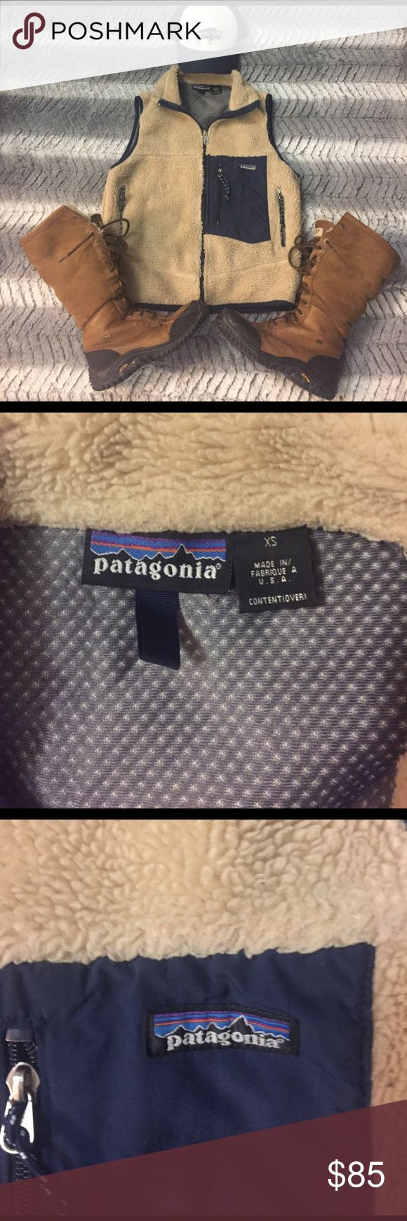 Patagonia Retro Vest In excellent used condition! This is a ***men's xs that fits a women's s-m.*** Love this just don't wear it enough because its a tad big on me! Would love to trade for some betters sweaters or retools. Bison Patagonia hat is also for sale in another post! Patagonia Jackets & Coats Vests