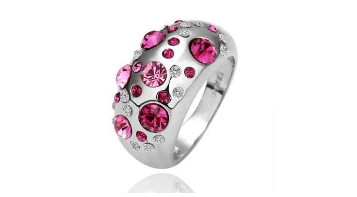 18K Aranyozott kristály gyűrű LKN18K RGPR07 6 - 18K aranyozott gyűrű - Swarovski Elements ékszer shop