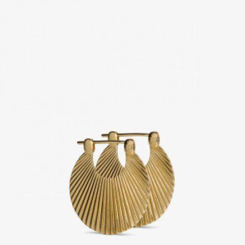Øreringer small shell gold