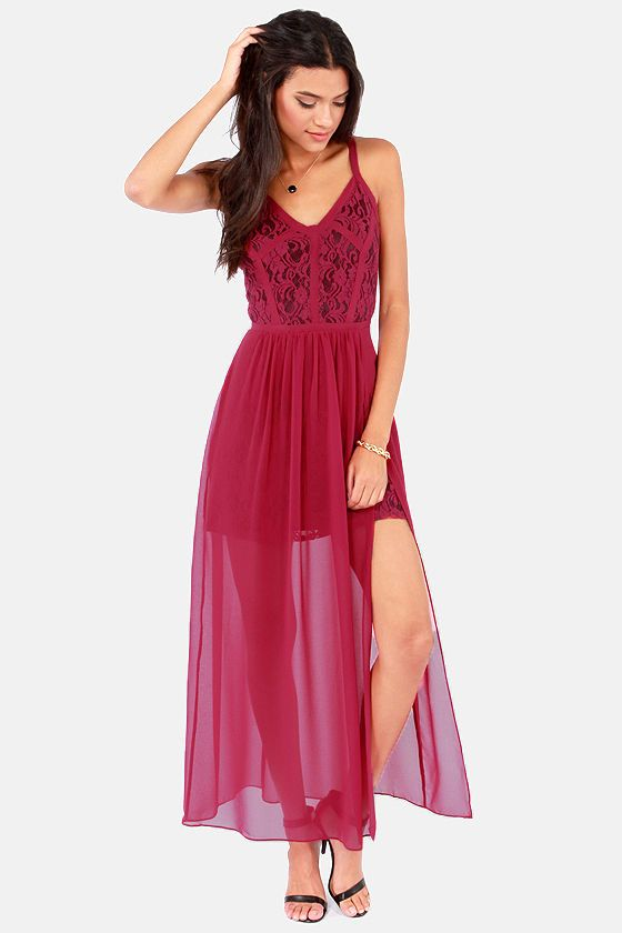 Definitions lace top maxi dress