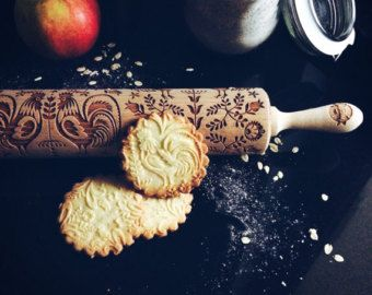 SCANDINAVIAN DESIGN rolling pin embossing by GOODYWOODYcompl