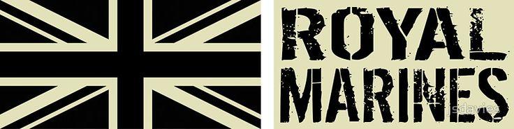 British Royal Marines Black Military Flag