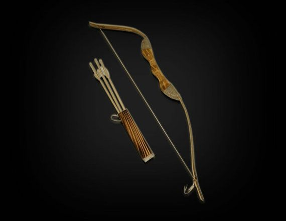 Children's Wooden Bow and Arrow set; kids youth toy-For archery hunting playing-Rubber tip for Arrows