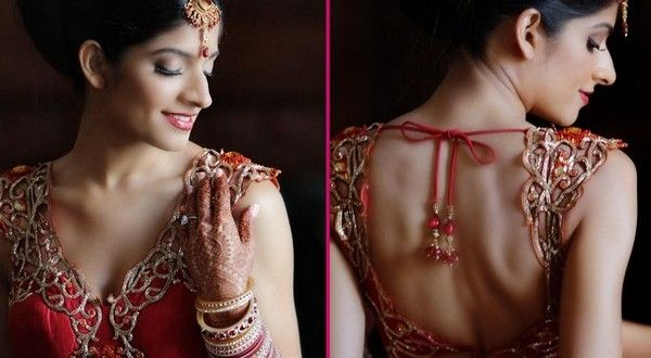Simple Back Neck Designs For Blouse