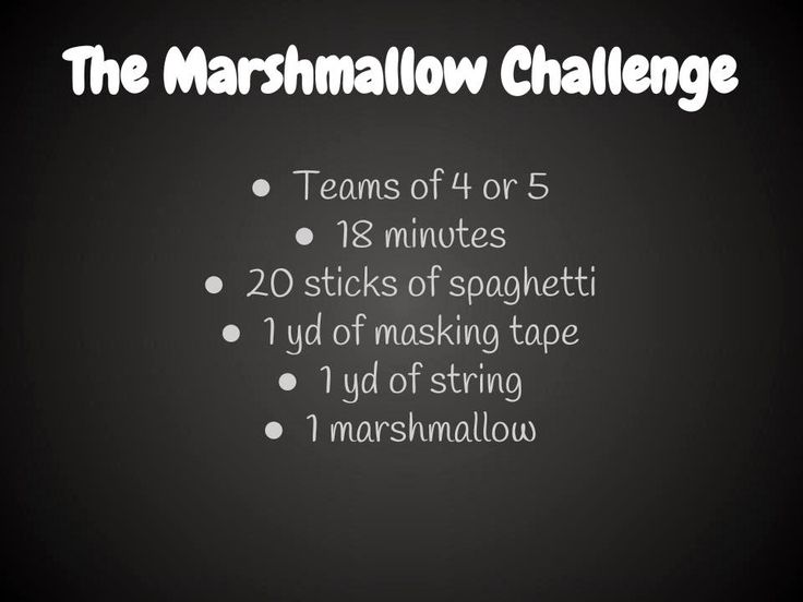 The Marshmallow Challenge, a Great Team Building Exercise - Middle School Math Rules!