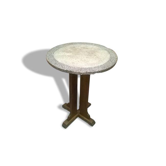 table bistrot ann es 30 40 pierre et pl tre multicolore dans son jus vintage 11147. Black Bedroom Furniture Sets. Home Design Ideas