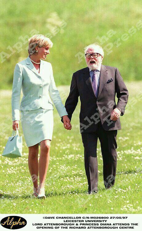 May 27, 1997: Diana, the Princess of Wales with Sir Richard Attenborough during…