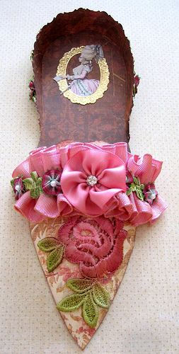 For the Marie Antoinette Mail Art Group shoe swap, hosted by Terri Heinz