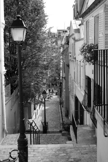 Straat in Montmartre, Parijs