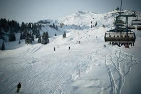 Snowboarding on Flumserberg